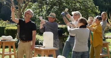 Spass beim Bildhauern