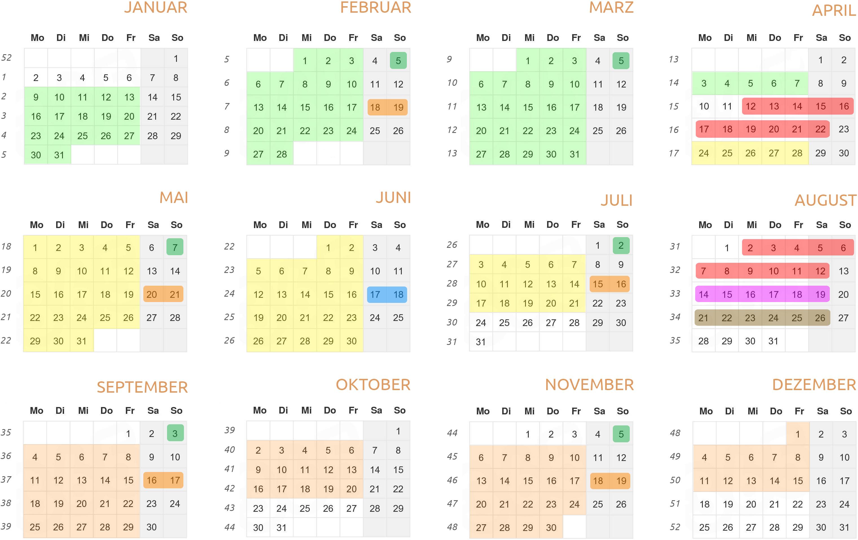Kalender 2016 hochformat (Version 2.0)